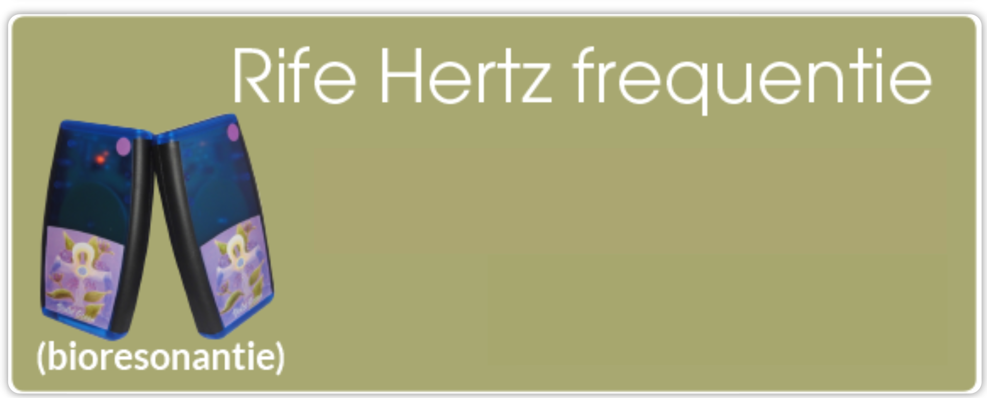 Rife Hertz Frequenties