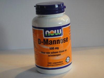 D-Mannose 500 mg. 120 caps.