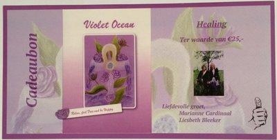 "Violet Ocean Cadeau Bon  ""Healing"" ter waarde van 25 euro"